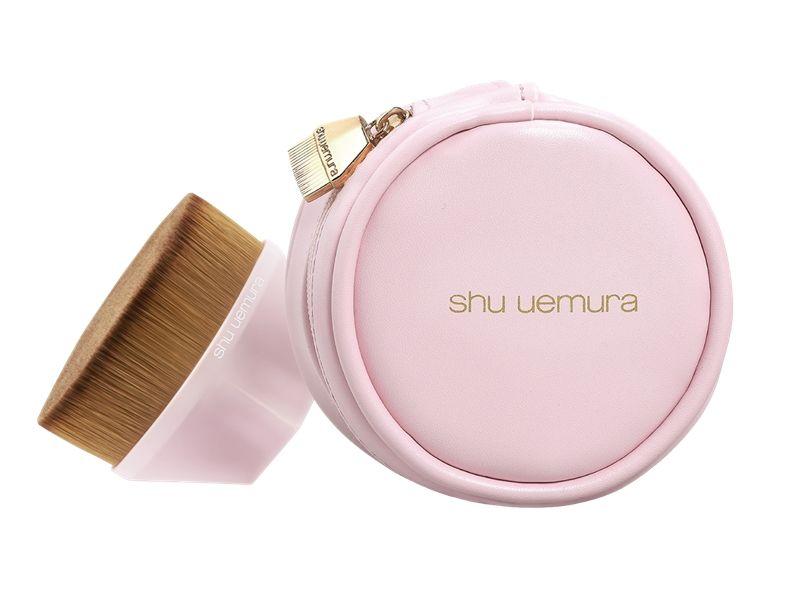 shu uemura植村秀#55零刷痕粉底刷粉紅限量版與專用刷具包