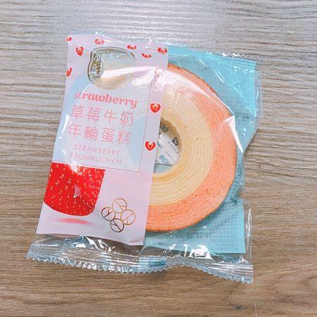草莓牛奶年輪蛋糕