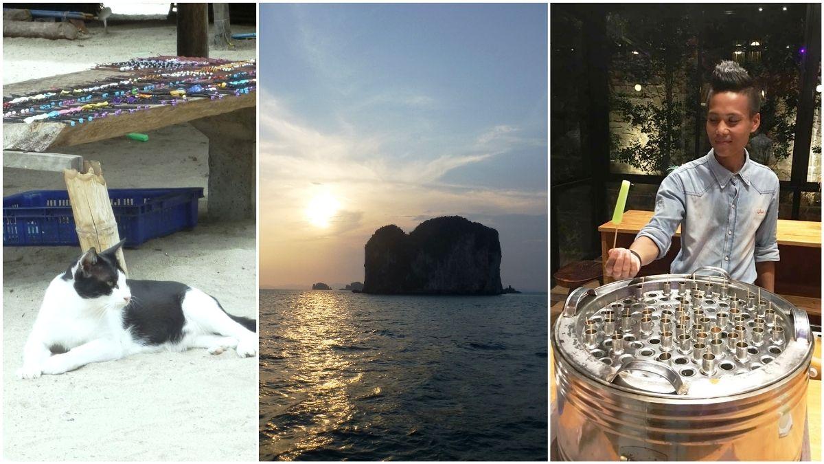 原始島嶼找貓咪店長買手工藝品、峭壁餐廳吃古早味泰奶冰棒、搭遊艇看夕陽 泰國喀比攀牙這樣玩不一樣