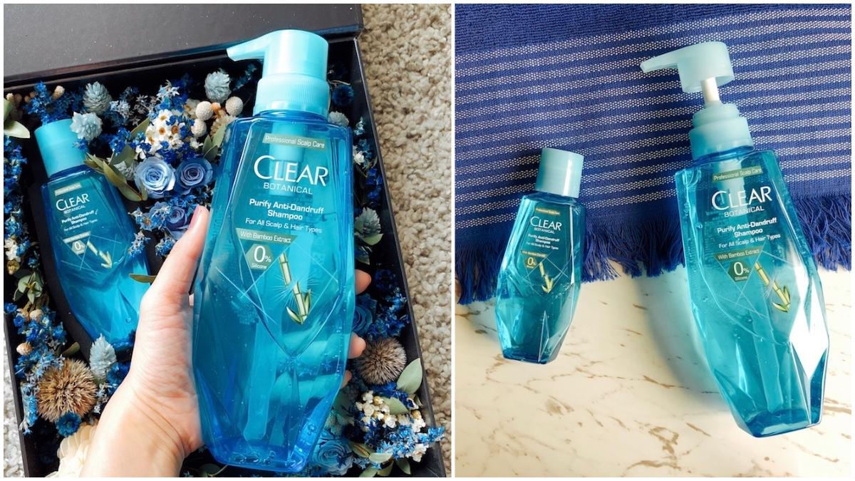 加入香水前中後調的CLEAR淨「鑽石小藍瓶」 洗完頭皮真的超清爽!