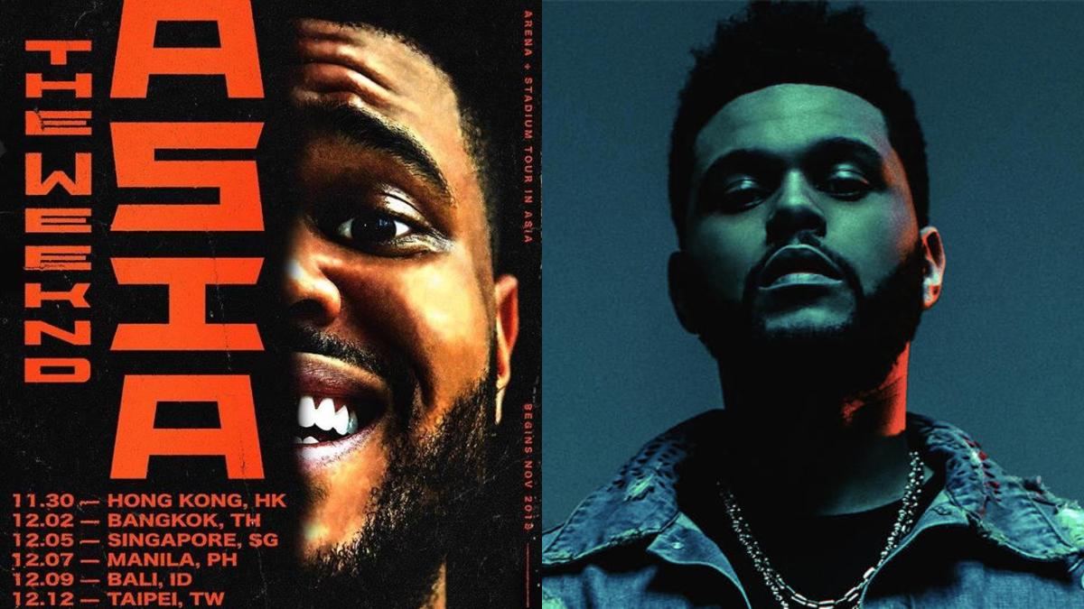 本周六搶票,最漂丿的靈魂歌手威肯The Weeknd,12月12日即將空降台灣開唱!