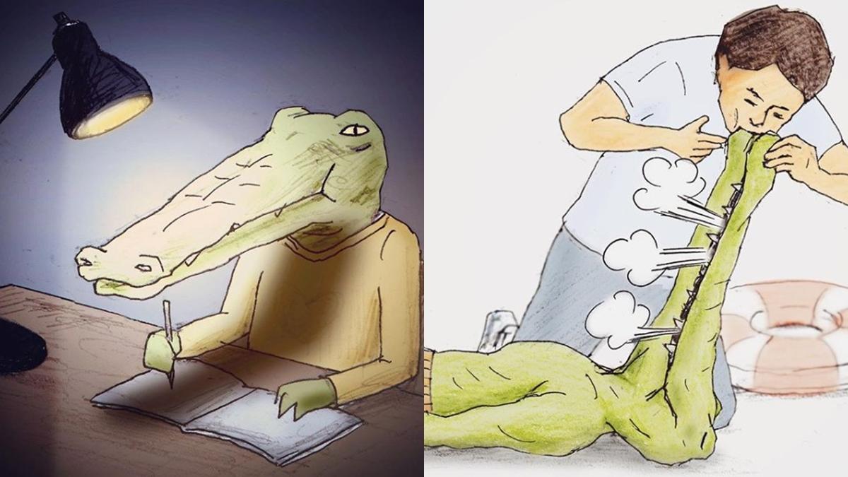 人生怎麼那麼難啦!日本插畫家 Keigo 新書《我的生活不可能那麼壞》,用腦洞大開的嘲諷幽世界一默