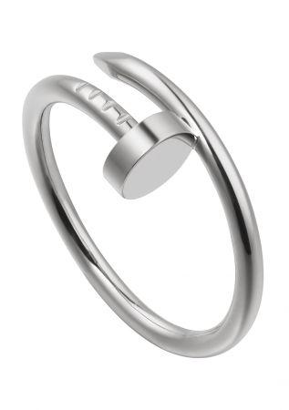 2018年新款卡地亞Juste un Clou系列戒指,18K白金,參考價格約NT$ 36,800