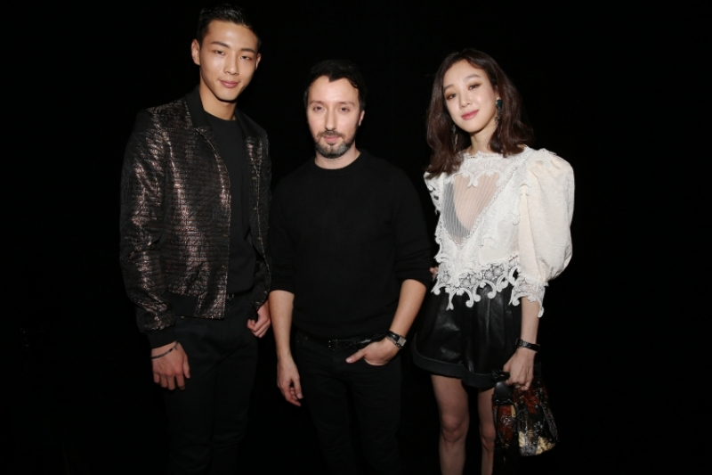 金志洙 & Anthony Vaccarello & 鄭麗媛