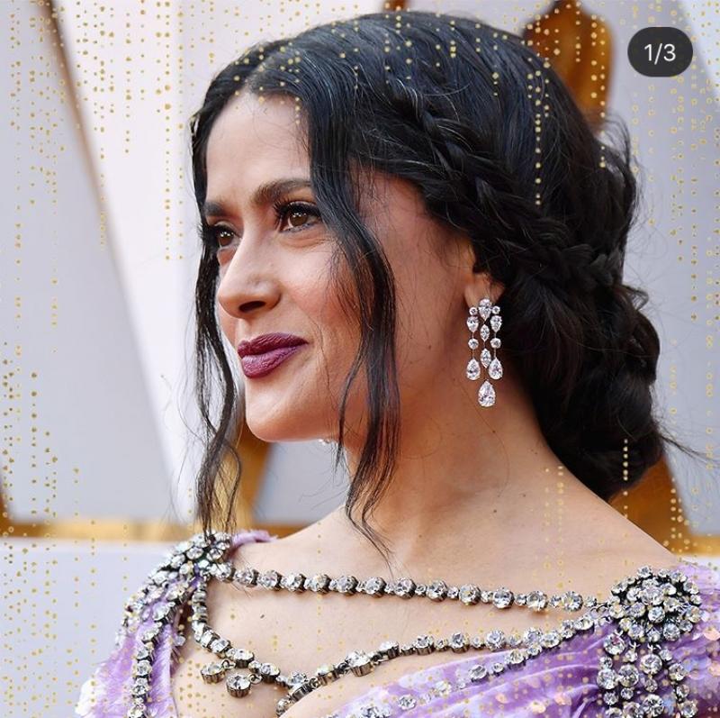 Salma Hayek穿戴Harry Winston珠寶
