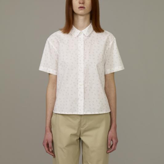 『KIM JONES GU PRODUCTION』_女裝平織紋短版襯衫(短袖)_售價NT790