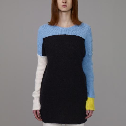 『KIM JONES GU PRODUCTION』_女裝色塊針織衫(長袖)_售價NT890