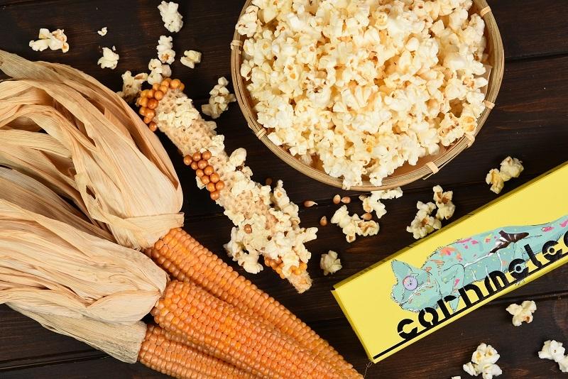 誠品生活expo|爆穀文化|有梗爆米花|整根玉米放進微波爐即可變身爆米花
