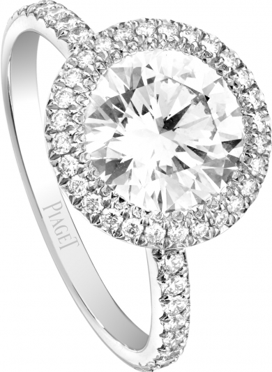 PIAGET Passion 單鑽訂婚指環 鑲嵌中央單顆圓形主鑽(有0.3-2.0克拉選擇)及多顆圓形美鑽 參考價格 154,000起