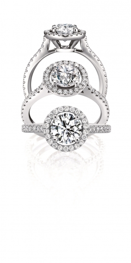 HEARTS ON FIRE Repertoire 經典復古奢華戒指 主鑽0.3ct,鑽石總重0.55c,tNT$132,000起