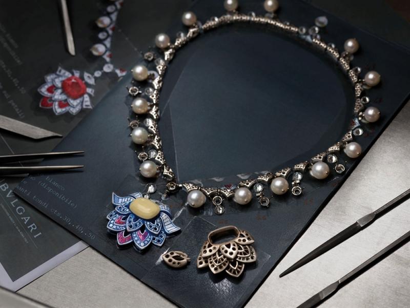 BVLGARI FESTA 公主慶典系列 Cuore Di Roma頂級紅寶石鑲鑽項鍊(263016)_工藝圖