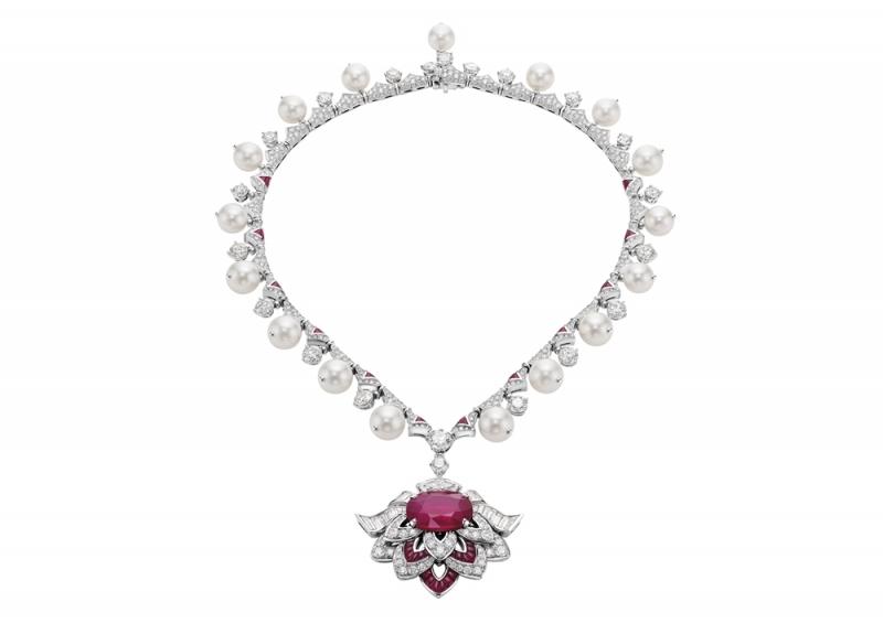 BVLGARI FESTA 公主慶典系列 Cuore Di Roma頂級紅寶石鑲鑽項鍊,TWD136,806,000元(263016)