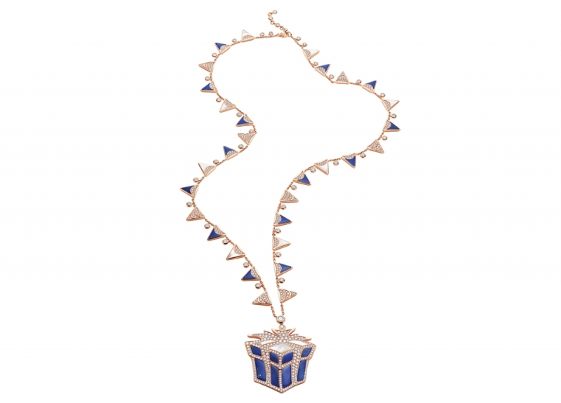 BVLGARI FESTA 童年慶典系列 The Gift 禮物造型頂級彩寶項鍊,TWD9,500,000(263054)