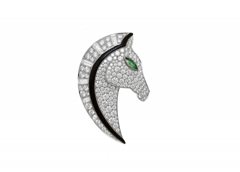 BVLGARI FESTA傳統慶典系列Cavallo駿馬造型頂級鑽石胸針(263176)