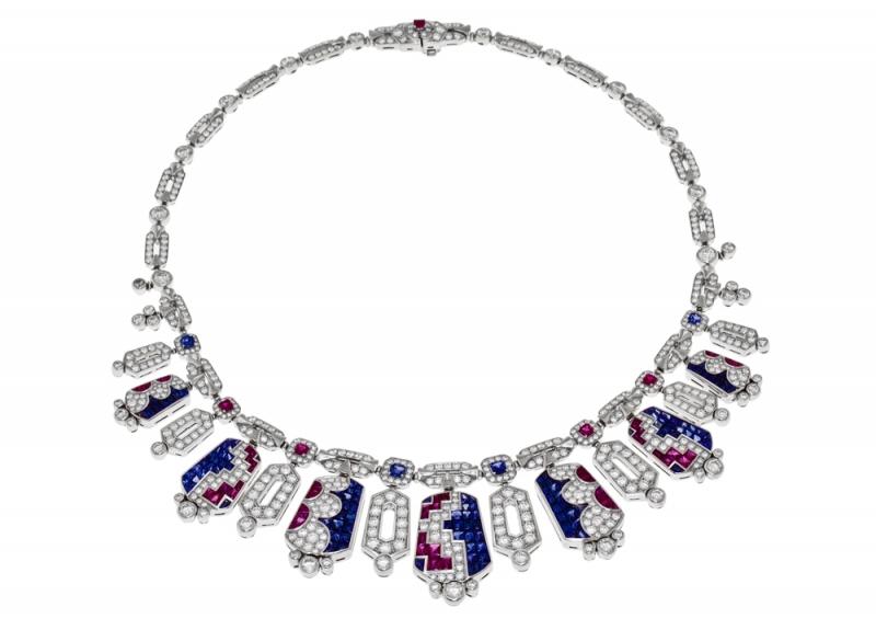 BVLGARI FESTA傳統慶典系列Pantera Di Siena頂級彩寶鑽石項鍊(262849)