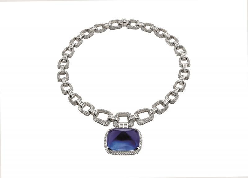 BVLGARI FESTA公主慶典系列IL MAGNIFICO 頂級藍寶石與鑽石項鍊(262137)