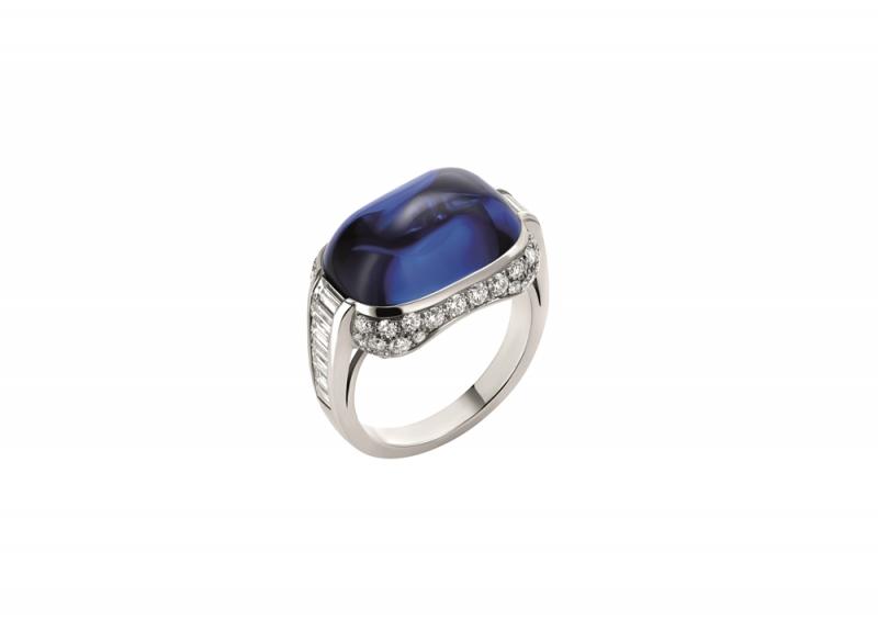 BVLGARI FESTA公主慶典系列PAOLINA BORGHESE 頂級藍寶石與鑽石戒指(262976)