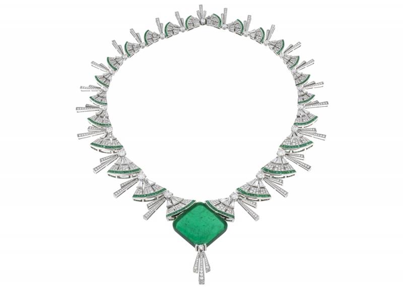 BVLGARI FESTA公主慶典系列Paolina Borghese頂級祖母綠與鑽石項鍊(262879)