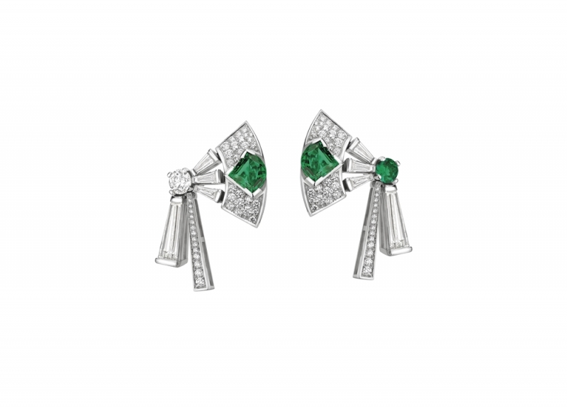 BVLGARI FESTA公主慶典系列Paolina Borghese頂級祖母綠鑽石耳環(262908)