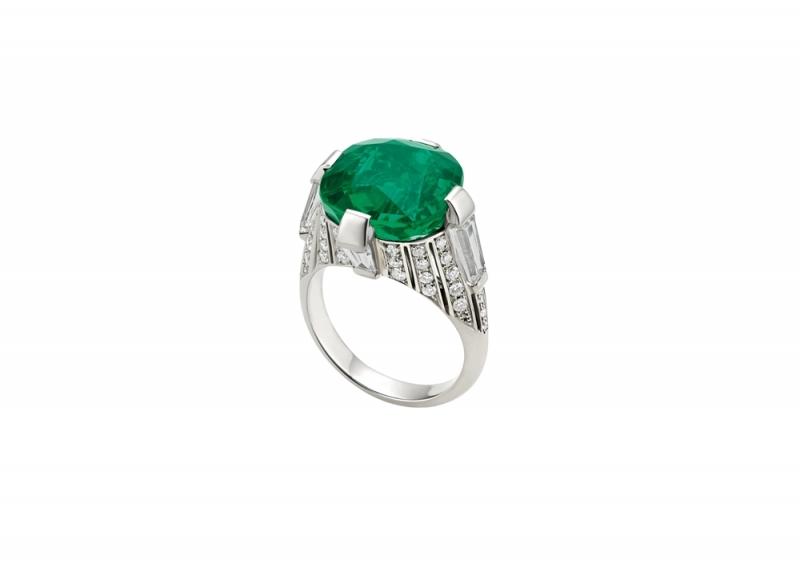 BVLGARI頂級祖母綠與鑽石戒指(261984)