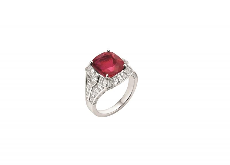 BVLGARI 頂級紅寶石與鑽石戒指(263001)