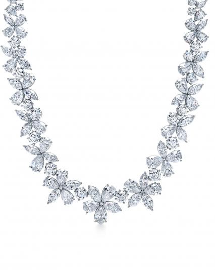Tiffany Victoria 混合式切割鑽石項鏈,NT$8,895,000