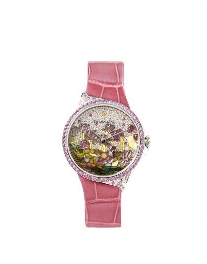大中華地區Tiffany高級珠寶腕錶系列,Tiffany Metro 高級珠寶腕錶 – 蓮花 NT$2,575,000