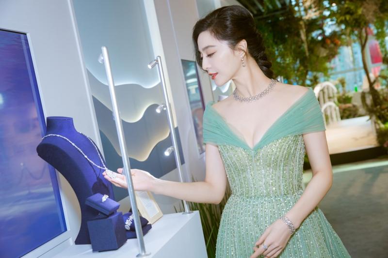 范冰冰出席Lotus by De Beers高級珠寶系列活動