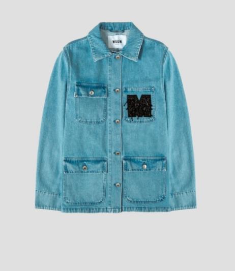 口袋裝飾丹寧外套,MGSM by Minoshin,NT16,300。