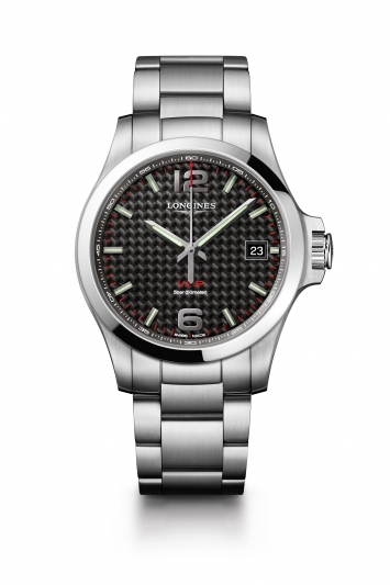 Longines 浪琴表征服者系列 V.H.P.大三針腕錶- 碳纖維面 (L3.726.4.66.6),建議售價NT34,200