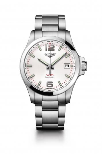 Longines 浪琴表征服者系列 V.H.P.大三針腕錶- 銀面 (L3.726.4.76.6),建議售價 NT34,200