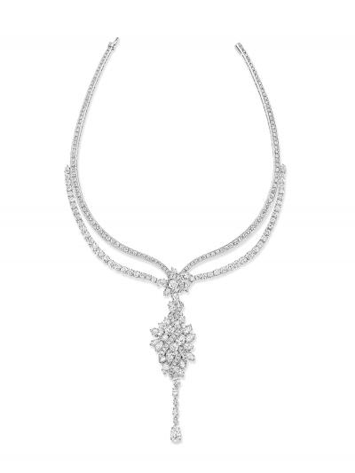 Secret系列頂級珠寶_Secret Cluster鑽石項鍊_總重高達82.95克拉鑽石。Kate Hudson配戴款。
