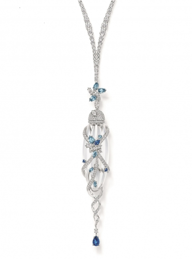 Secret系列頂級珠寶_Secret Cluster系列香水瓶彩色寶石鑽石項鍊