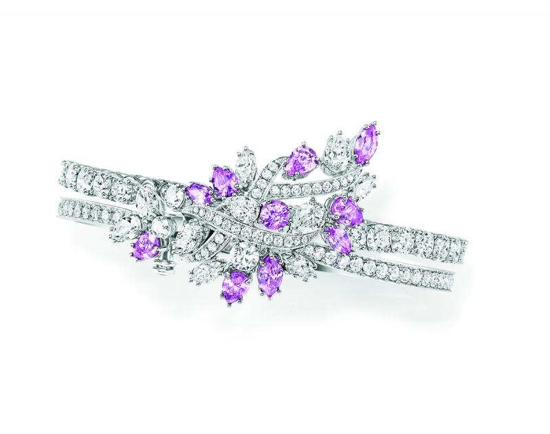 Secret系列頂級珠寶_Secret Cluster系列粉紅剛玉鑽石手鍊