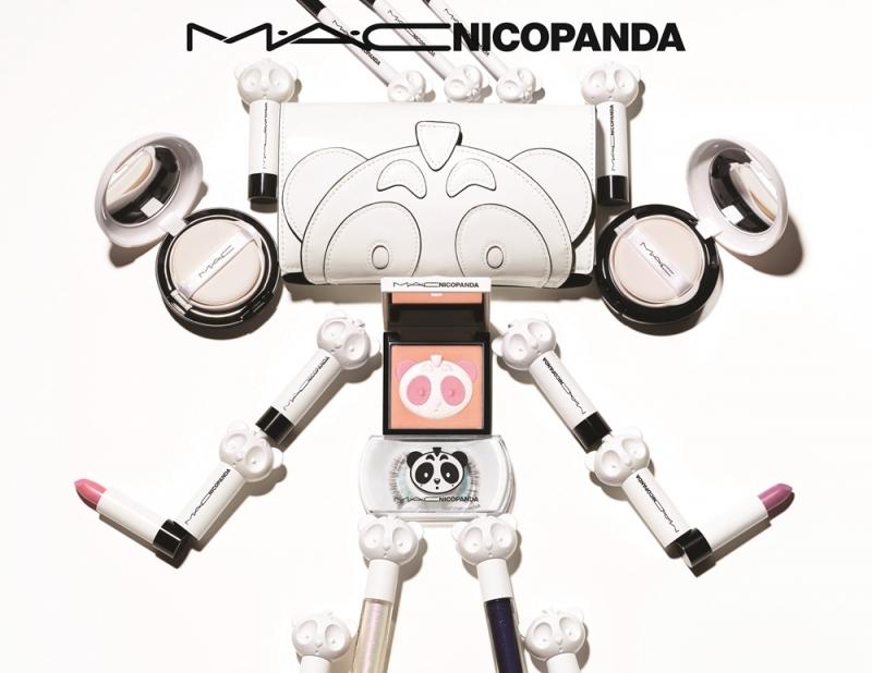 M.A.C X NICOPANDA設計師聯名產品形象圖
