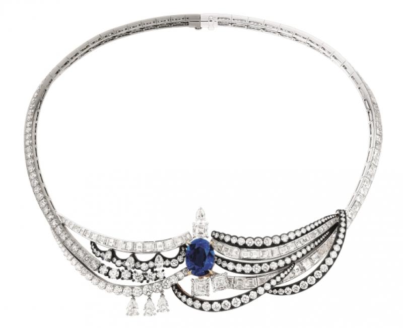 Chambre du Roi藍寶石鑽石項鍊,Dior,約NT70,000,000。