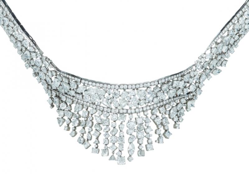 混合式切割鑽石頸鍊,Tiffany & Co.,NT40,840,000。