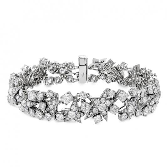 Illa鑽石手環_18K白金鑽石總重12.20克拉_售價 NT$1,535,000元起