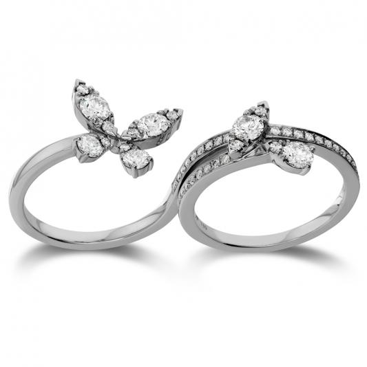 Aerial_Butterfly跨指戒18K白金鑽石總重0.7克拉售價185,000元起