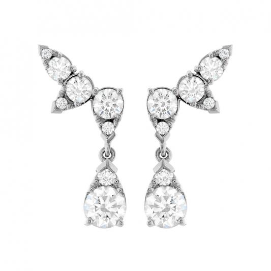 Aerial鑽石耳環_18K白金鑽石總重4.15ct_售價NT$1,876,000元起