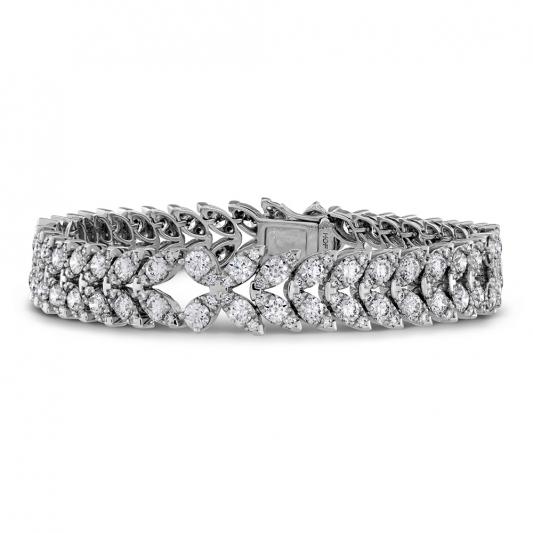 Aerial鑽石手鍊_18K白金鑽石總重10.52ct_售價NT$1,650,000元起
