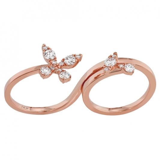 Aerial鑽石跨指戒_18K玫瑰金鑽石總重0.70ct_售價NT$185,000元起