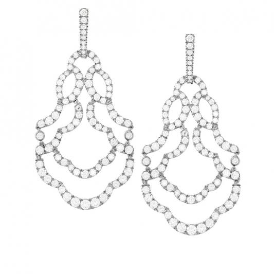 Lorelei鑽石耳環_18K白金鑽石總重6.645ct_售價NT$819,000元起