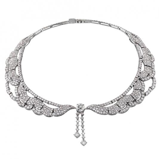 Lorelei鑽石項鍊_18K白金鑽石總重35.50ct_售價NT$6,500,000元起