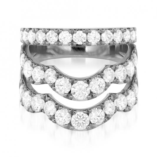 Lorelei鑽石戒指_18K白金鑽石總重2.48ct_售價NT$352,000元起