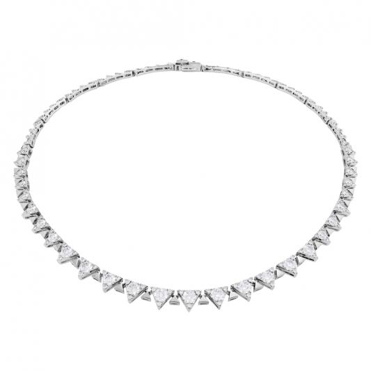 Triplicity鑽石項鍊18K白金-鑽石總重9.1克拉售價2,385,000元起