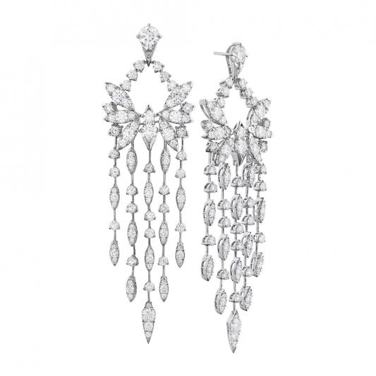 WhiteKites鑽石耳環_18K白金鑽石總重11.10克拉售價 NT$2,650,000元起