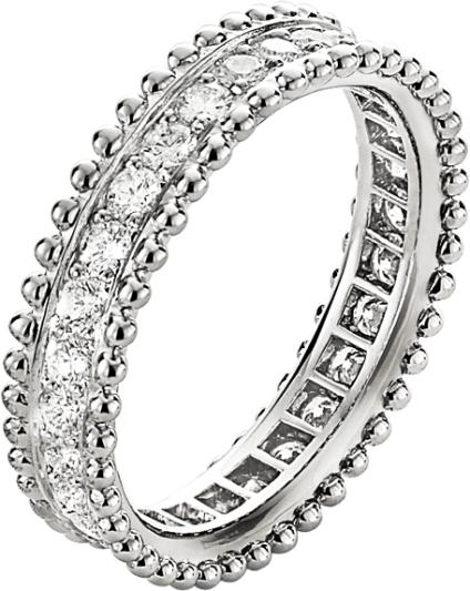 VCA Bridal -ESTELLE WEDDING BAND, PLATINUM, ROUND DIAMONDS