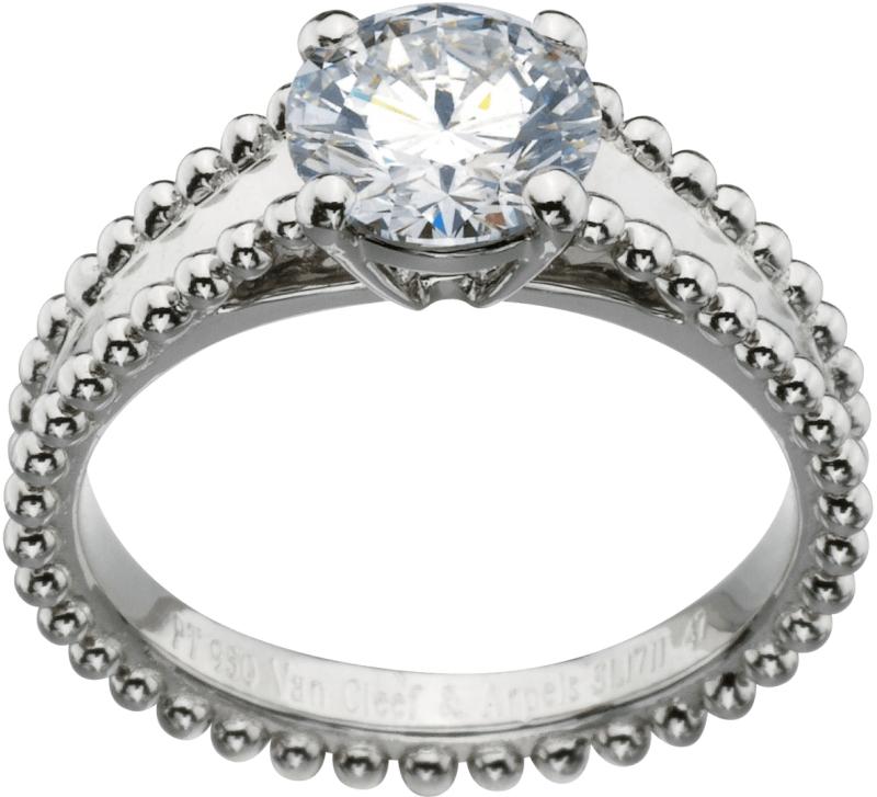 VCA Bridal -Estelle solitaire, platinum, 1 rou nd diamond