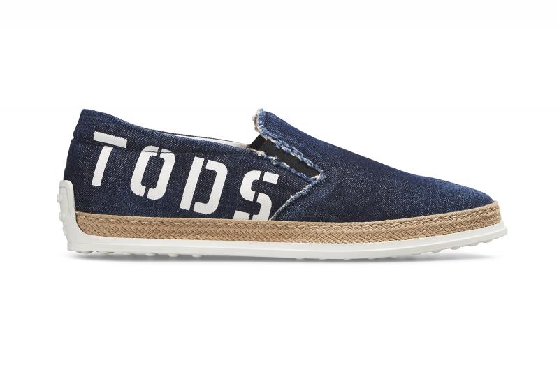 TOD'S塗鴉式Logo男士草編鞋-NT$20,500。